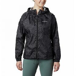 Columbia Women's Flash Forward Printed Windbreaker Jacket Black Wispy Bamboo
