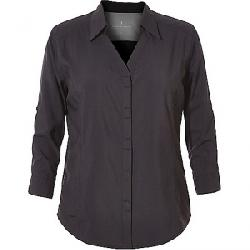 Royal Robbins Women's Expedition Chill Stretch 3/4 Sleeve Shirt Jet Black