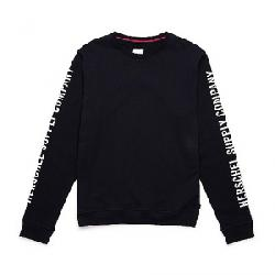 Herschel Supply Co Men's Crewneck Sleeve Print Black / White