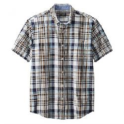 Pendleton Men's Madras SS Shirt Blue/Brown Plaid