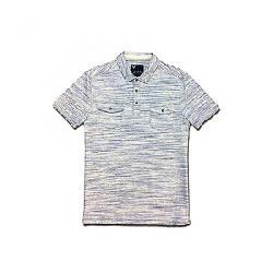 Jeremiah Men's Colson Spacedye Heather Snap Polo Shirt Bluestone
