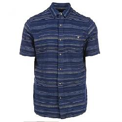 Pendleton Men's Kay Street SS Fitted Stripe Shirt Blue Indigo/Tan Stripe