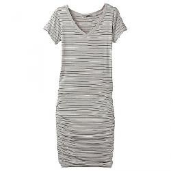 Prana Women's Foundation Dress Light Grey Heather Stripe
