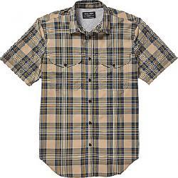 Filson Men's Twin Lakes SS Sport Shirt Gold / Blue Plaid