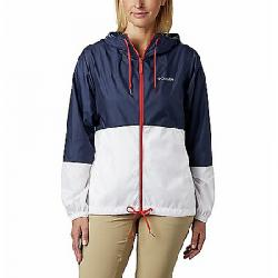 Columbia Women's Flash Forward Windbreaker Jacket Nocturnal/White