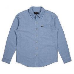 Brixton Men's Charter Oxford LS Shirt Light Blue Chambray