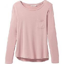 Prana Women's Foundation LS Crew Neck Top Rosette Heather