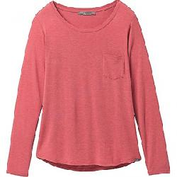 Prana Women's Foundation LS Crew Neck Top Rouge Heather