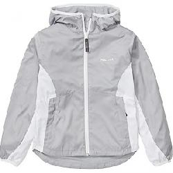 Marmot Girls' Trail Wind Hoody Sleet / White