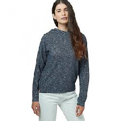 Tentree Women's Burney Knit Hoodie Dark Ocean Blue Marled