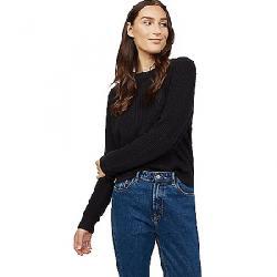 Tentree Women's Highline Cotton Crew Sweater Meteorite Black