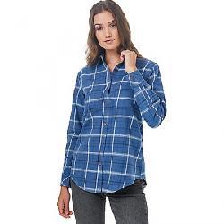 Tentree Women's Lush Flannel Shirt Spruce Blue Hike Plaid