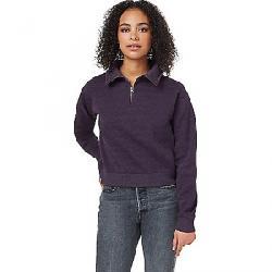 Tentree Women's 1/4 Zip Fleece Aubergine Purple Heather