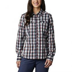 Columbia Women's Silver Ridge Lite Plaid LS Shirt Tradewinds Grey Plaid