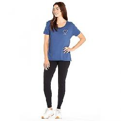 good hYOUman Women's Dakota Raw Hem Boxy Tee Uniform Blue Reactive