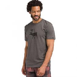 Prana Men's Y'Olde SS T-Shirt Deer Charcoal Heather