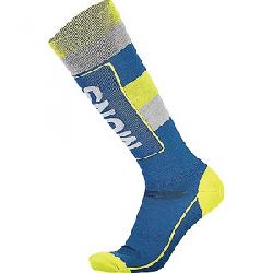 Mons Royale Men's Mons Tech Cushion Sock Oily Blue/Grey/Citrus