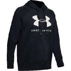 Under Armour Women's Rival Fleece Sportstyle LC Sleeve Graphic Ho Black / Onyx White