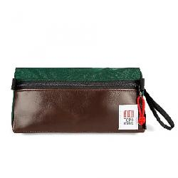 Topo Designs Dopp Kit Forest/Brown Leather