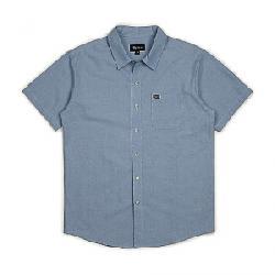 Brixton Men's Charter Oxford SS Shirt Light Blue Chambray