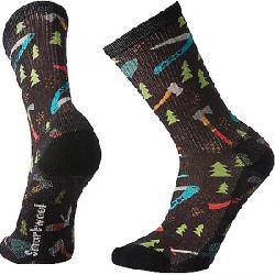 Smartwool Hike Light Sharp Things Print Crew Sock Black