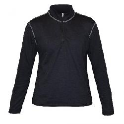 Hot Chillys Youth Pepper Skins Zip Tee Black