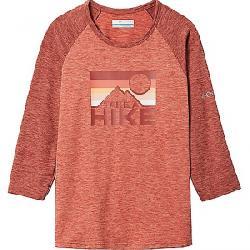 Columbia Youth Outdoor Elements3/4 Sleeve Shirt Dark Coral Heather / Dusty Crimson Hthr