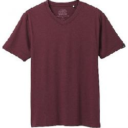 Prana Men's V-Neck Tee Raisin Heather