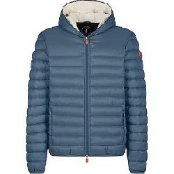 Save The Duck Men's Giga Sherpa Hooded Jacket Steel Blue