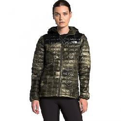 The North Face Women's ThermoBall Eco Hoodie New Taupe Green Vapor Ikat Print / TNF Black Matte