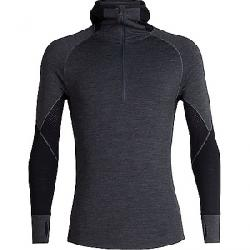 Icebreaker Men's 260 Zone LS Half Zip Hooded Top Jet Heather / Black