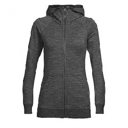 Icebreaker Women's Crush LS Zip Hood Top Jet Heather