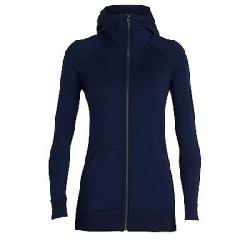 Icebreaker Women's Crush LS Zip Hood Top Midnight Navy Blue