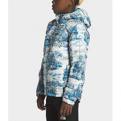The North Face Boys' ThermoBall Eco Hoodie Ethereal Blue Yeti Scenic Print