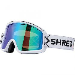Shred Monocle Snow Goggles Bigshow White CBL/Plasma Mirror