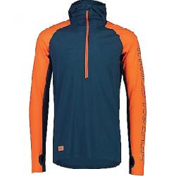 Mons Royale Men's Temple Tech Hood Top Atlantic / Orange Smash