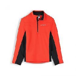 Spyder Men's Encore Half Zip Fleece Jacket Volcano