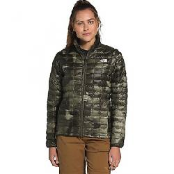 The North Face Women's ThermoBall Eco Jacket New Taupe Green Vapor Ikat Print Matte