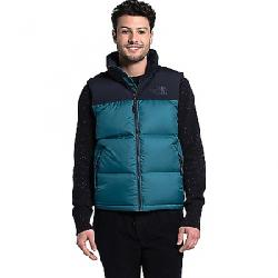 The North Face Men's Eco Nuptse Vest Mallard Blue / Aviator Navy