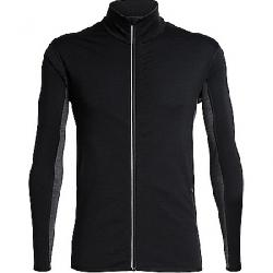 Icebreaker Men's Delta LS Zip Top Black / Jet Heather