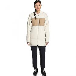 The North Face Women's TNF Reversible Long Fleece Jacket Vintage White / Hawthorne Khaki