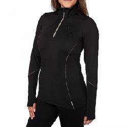 Hot Chillys Women's Elite Meta Zip T Black / Copper