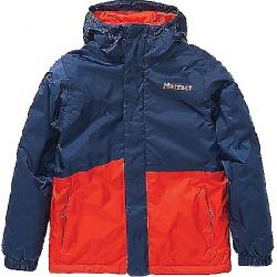 Marmot Kids' PreCip Eco Insulated Jacket Arctic Navy / Victory Red