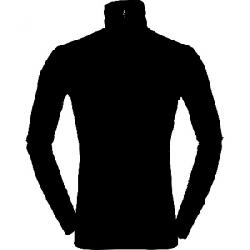 Norrona Men's Wool Zip Neck Baselayer Caviar