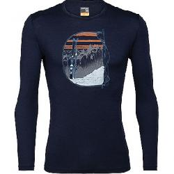 Icebreaker Men's 200 Oasis LS Crewe - Mt Blanc Rise Midnight Navy