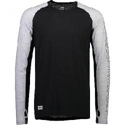 Mons Royale Men's Temple Tech LS Top Black / Grey Marl