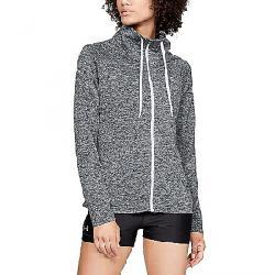 Under Armour Women's Tech Full Zip Twist Top Black / White / Metallic Silver