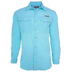 Hook & Tackle Men's Coastline LS Shirt Lt. Aqua