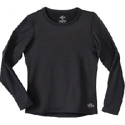Hot Chillys Youth Micro-Elite Chamois Crewneck Black