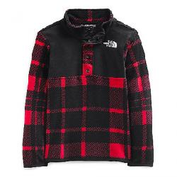 The North Face Toddlers' Glacier 1/4 Snap Top TNF Red Holiday 2 Plaid Print